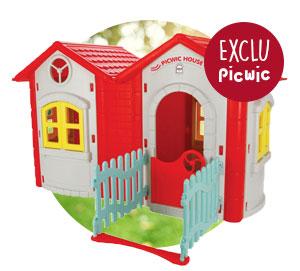 Maison picwic avec toboggan