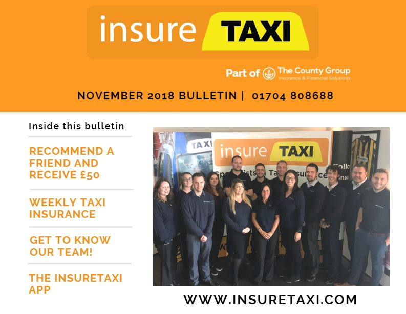 insureTAXI November Bulletin