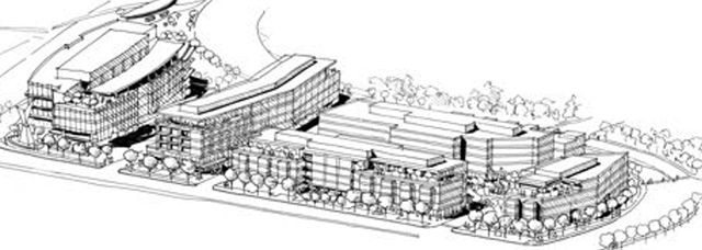 Drawing of proposed Oaks redevelopment