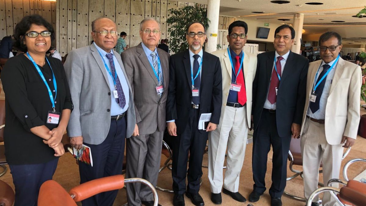 Dr. Iqbal Anwar and Dr. Sadika with other delegates of Bangladesh in World Health Assembly 2019 represent health sector of Bangladesh
