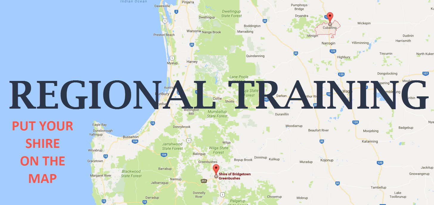 Regional Training - Put your Shire on the map