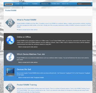 RAMM Web Site