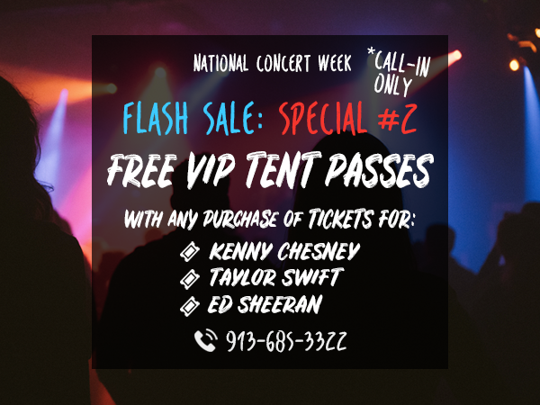 Free VIP Tent Pass Special