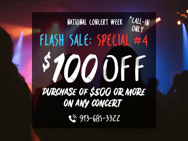 $100 Off All Concerts