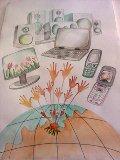 desen realizat de Patrula de Reciclare a Scolii gimnaziale Savin Popescu, Giurgiu