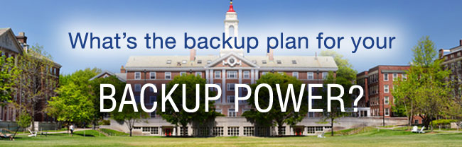 What's the backup plan for your BACKUP POWER?