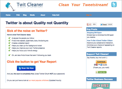 Twit Cleaner