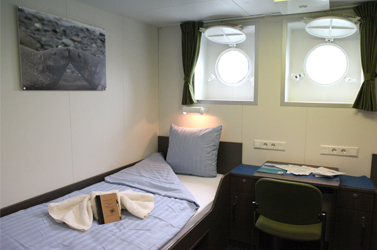 Twin Porthole cabin, deck 4 © Monica Salmang-Oceanwide Expeditions