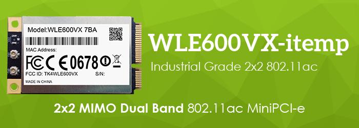 WLE600VX-itemp 2x2 MIMO Dual Band 802.11ac MiniPCI-e Module