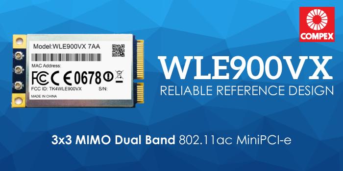 WLE900VX 3x3 MIMO Dual Band 802.11ac MiniPCI-e Module