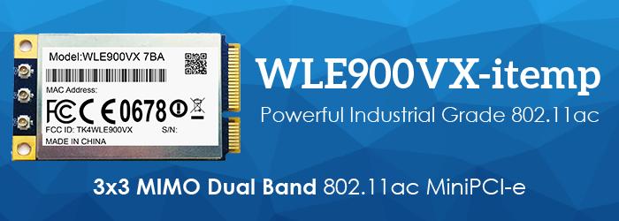 WLE900VX-itemp 3x3 MIMO Dual Band 802.11ac MiniPCI-e Module