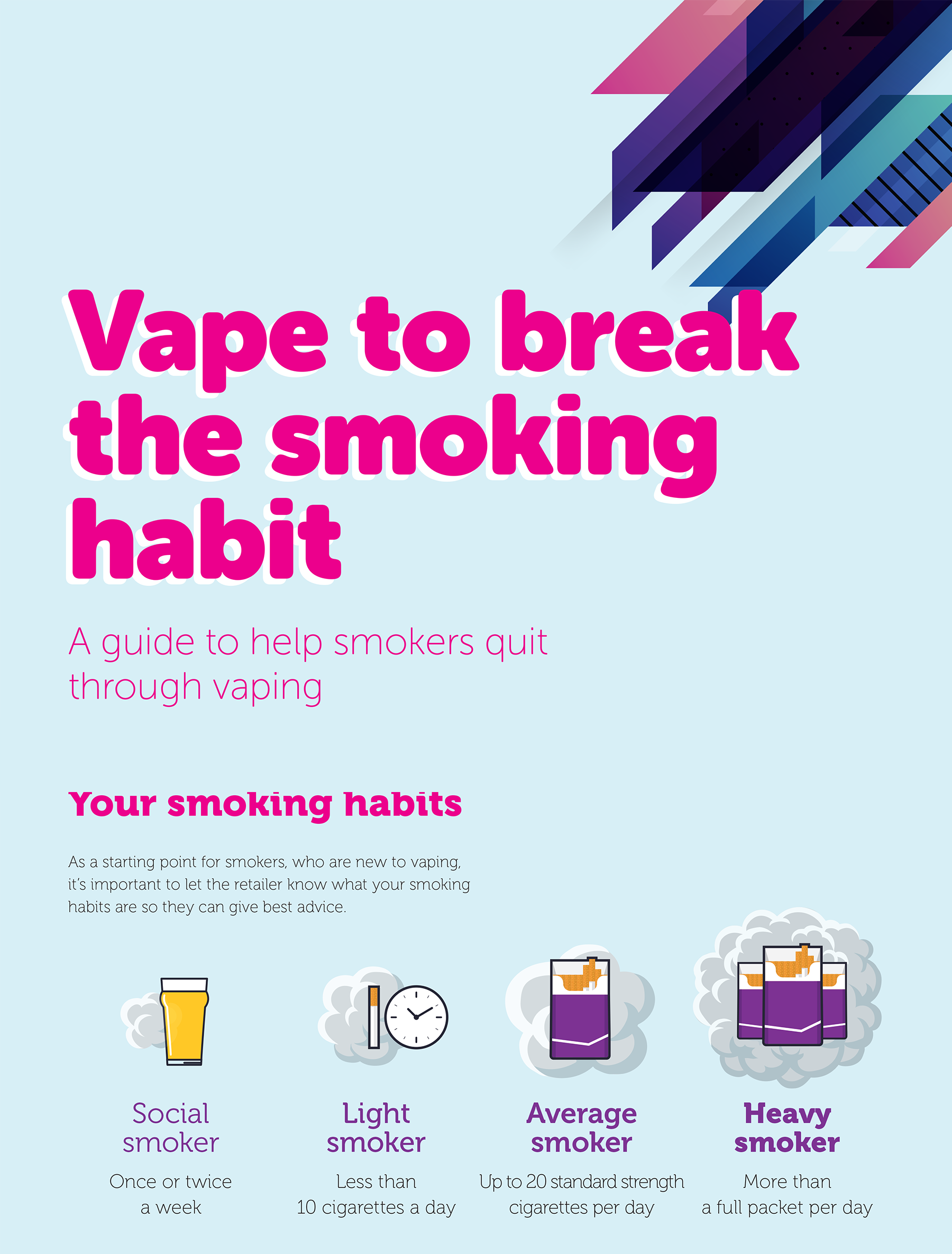 VAPE TO BREAK THE SMOKING HABIT
