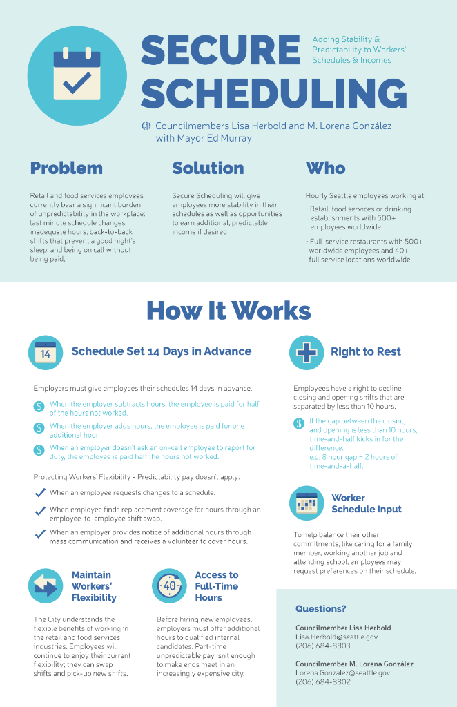 Secure Scheduling Infographic - English