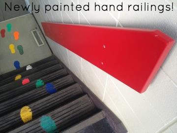 Newly painted hand railings!