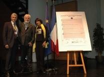 Alain Spada, Gilbert Perrin and Doreta Vicini, Presidentsof DRC and l'AEVV, and Vice-President of ECF