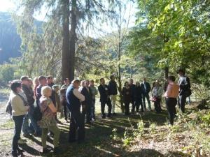 Workshop participants visited the Tarcău Greenway