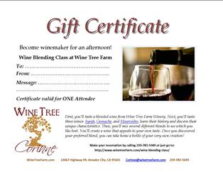 Gift Certificate for Two: Wine Blending Class