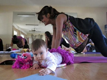 postpartum fitness -- mommy and me yoga
