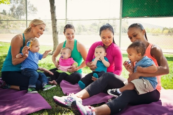 postpartum fitness -- making friends