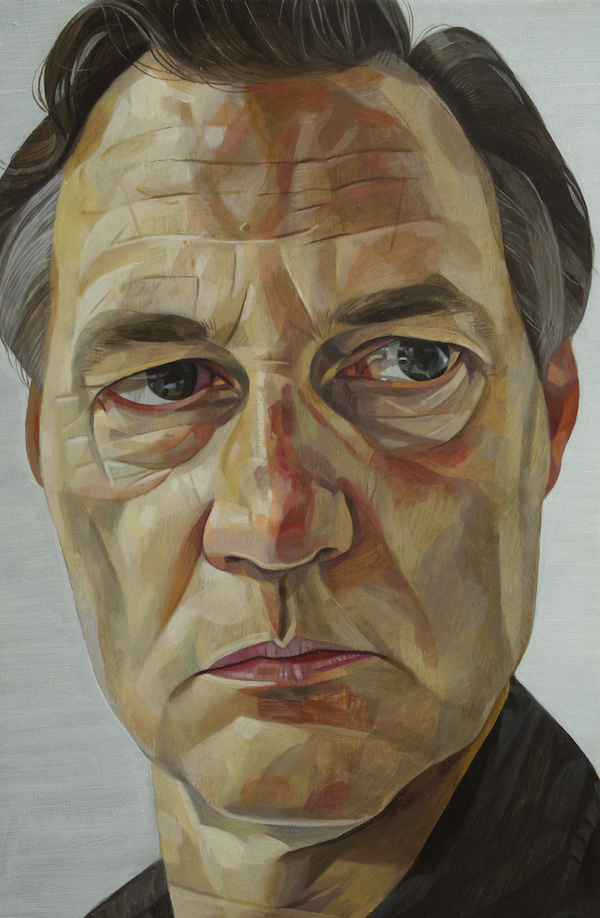 A portrait of the actor David Morrisey by the artist James Hague