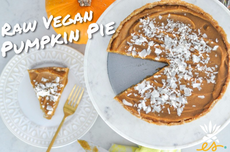 No-bake Pumpkin Pie (Raw Vegan!)