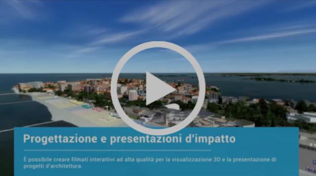 Vision Maps 3D - Simulazione dall'alto della spiaggia di Grado