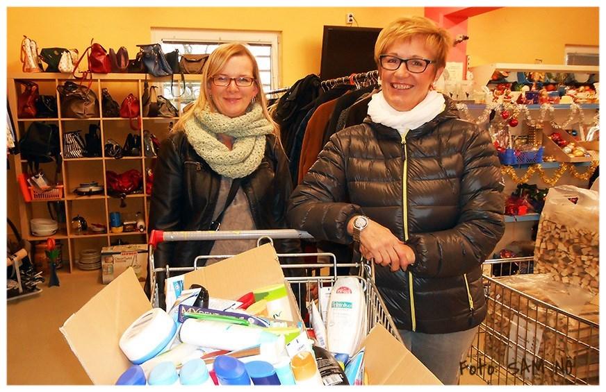 Spende von Hygieneprodukten der Pfarre Münchendorf