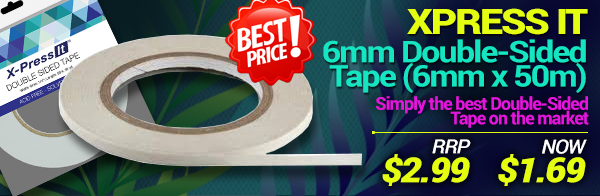 Xpress-it 6mm x 50m Double-Sided tape only $1.69