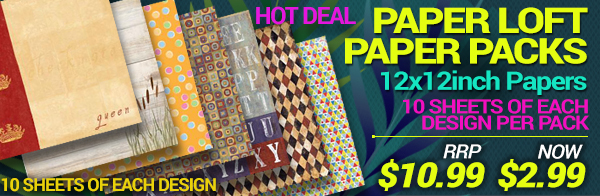 Paper Loft 10 packs of each design now only $2.99