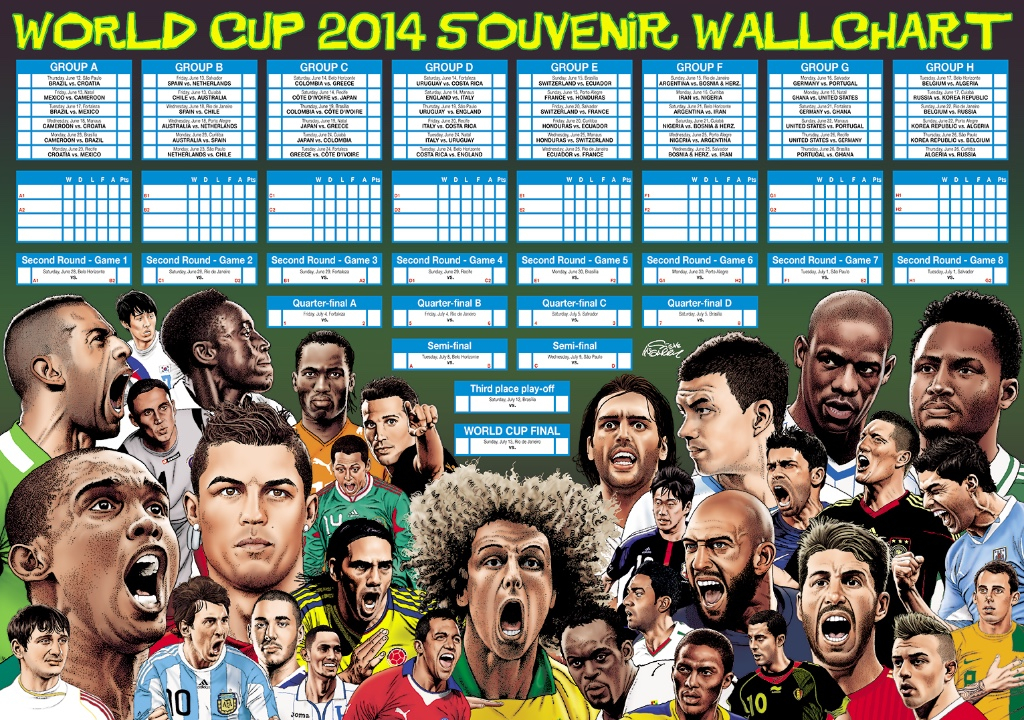 Steve McGarry's World Cup 2014 Poster for the Sunday Times