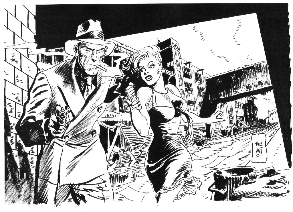 Art by Jordi Bernet, one of the Lakes International Comic Art Festival guests for 2016