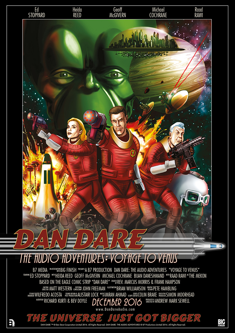 Dan Dare heads to Big Finish for new Audio Adventures from B7 Media
