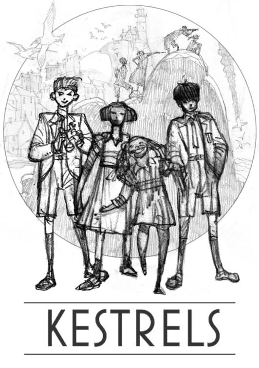 A promotional sketch for Mick McMahon's Kestrels project, written by Ben Dickson