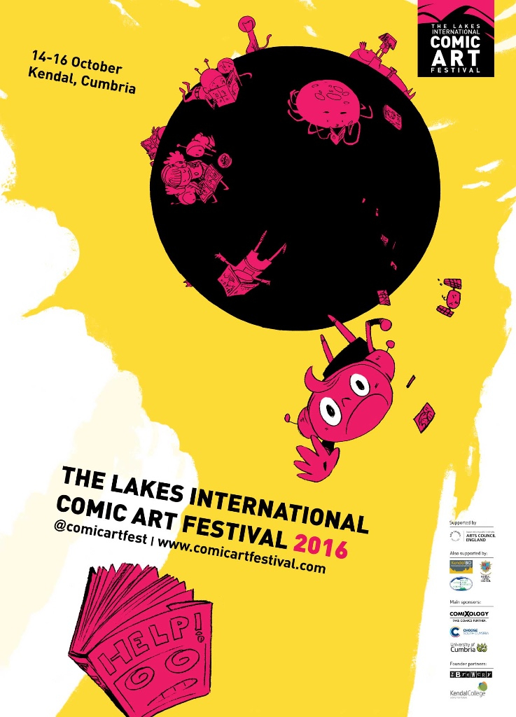 Lakes International Comic Art Festival Poster by and © Ken Niimura