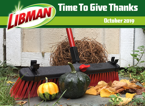 'Tis the season for giving thanks and getting the yard cleaned up and in shape for the colder temps. Consider giving your deck or patio a thorough scrub. Sweep away dead branches, leaves & debris, then scrub with a strong, multi-surface broom and your favourite cleaner to ensure mildew or mold won't grow to greet you next spring. Rinse well with a hose or bucket. All done! Now where's the hot apple cider?