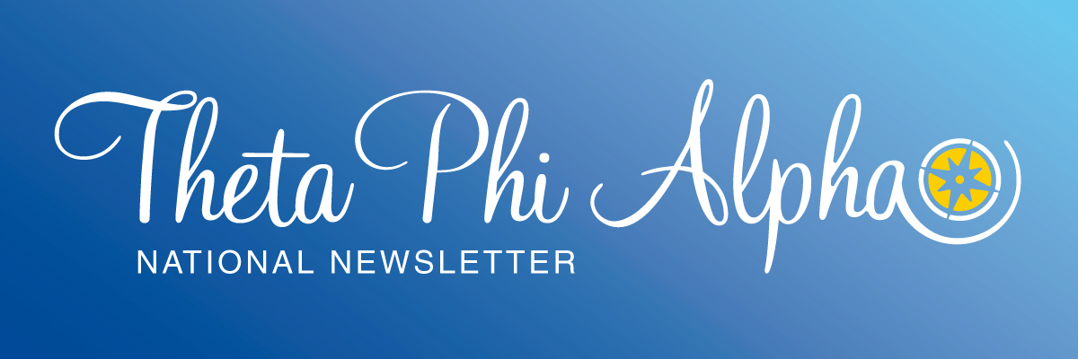 Theta Phi Alpha National Newsletter Banner