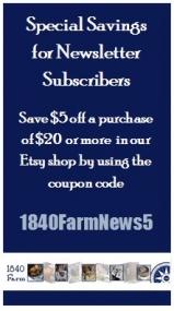 Special Savings from 1840 Farm