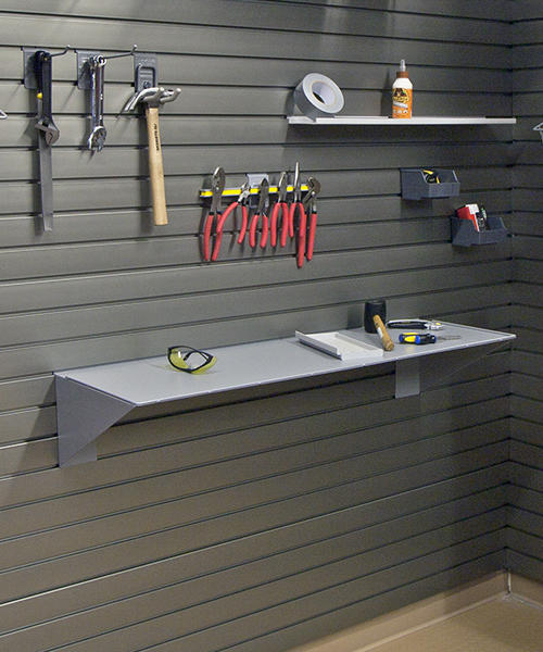 Garage storage shelving systems