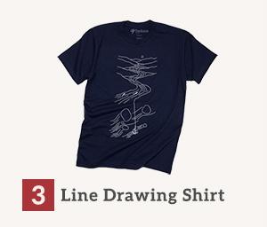 Shop Tenkara Line Drawing Shirt - Shop Now