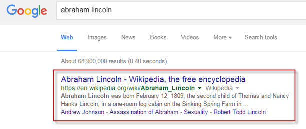 abraham lincoln google search