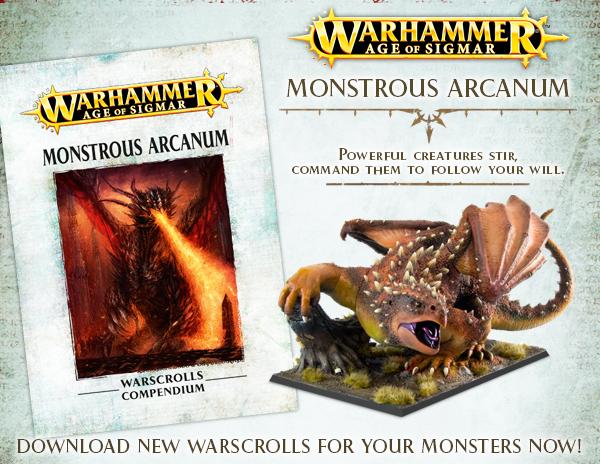Monstrous Arcanum Warscrolls Compendium