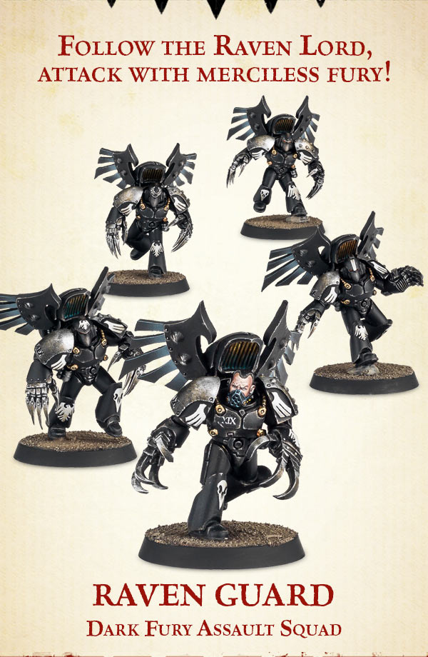 Raven Guard Dark Fury Assault Squad