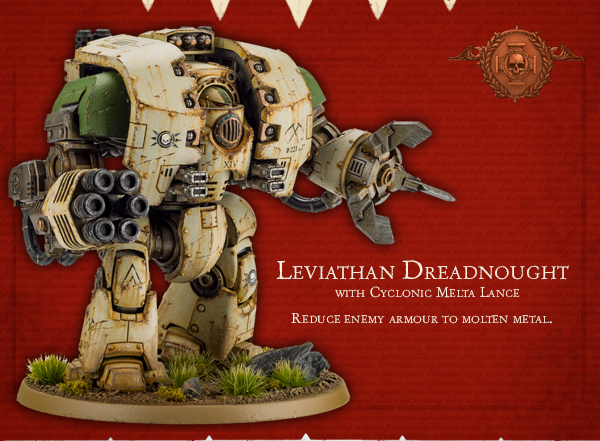 Leviathan Dreadnought Cyclonic Melta Lance