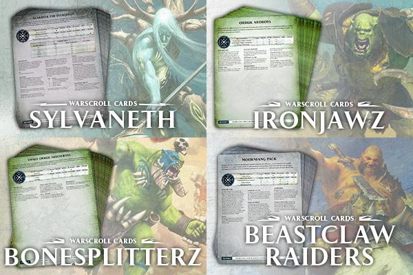 Warscroll cards