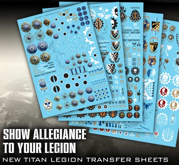 Titan Legion transfer sheets