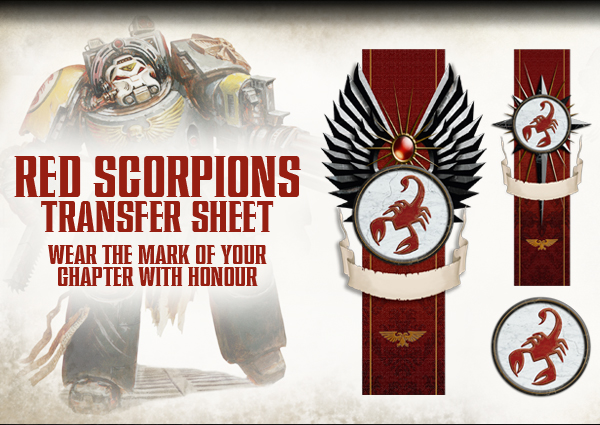 Red Scorpions Transfer Sheet