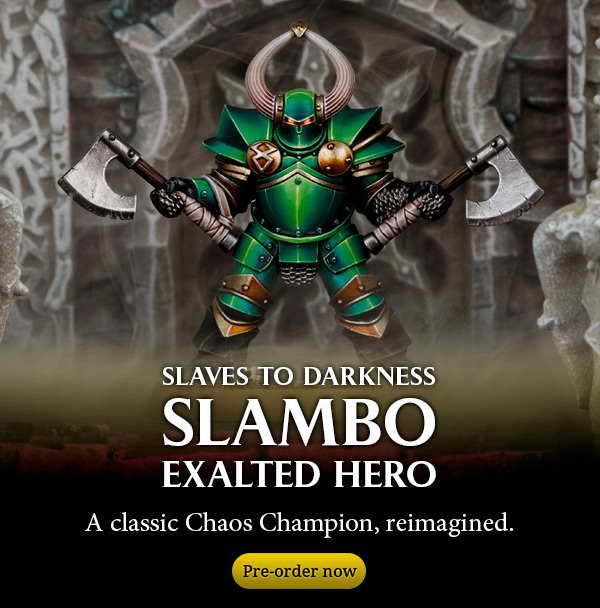 Slambo Exalted Hero of Chaos, reimagined. Pre-order now