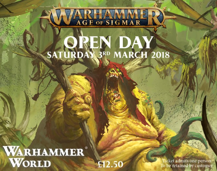 Click for details about Warhammer Age of Sigmar Open Day