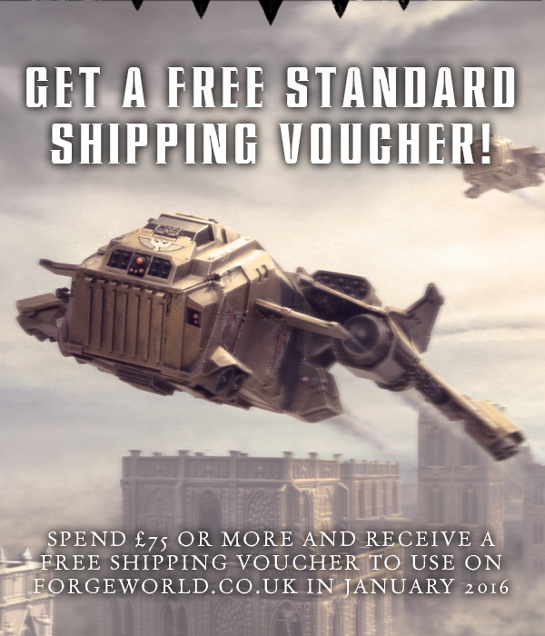 Forge World Free Standard Shipping Voucher