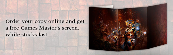 Order online and get a free Games Master screen, while stocks last